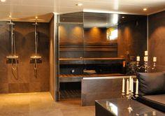 Home Spa Room, Spa Rooms, Sauna Design, Relaxation Room, Tiny House, House Ideas, Bathtub, Interior Design, Bathroom