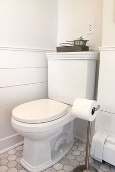 The powder room: (pretty much) ready for its reveal shiplap!