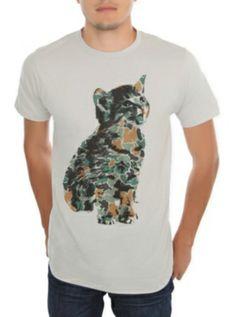 Camo Kitten Slim-Fit T-Shirt