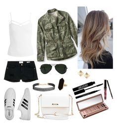 """""""Windy"""" by anjolea on Polyvore featuring Frame Denim, Sans Souci, L.L.Bean, Ray-Ban, adidas, Urban Decay, Kylie Cosmetics, Givenchy, Lord & Berry and Valentino"""