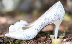 Zapatos para novia personalizados y pintados a mano | Figgie Shoes