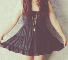 I luv Black dress  Girls : <3