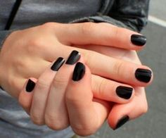 Black nails for fall yes can!!!!!