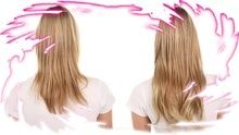 100% Human Hair Clip-In Extensions.  Adds instant volume and length to your own hair.  Natural looking, it's yours to own!!
