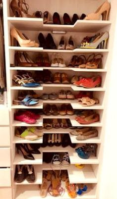 41 The Best Shoes Storage Design Ideas 41 The Best Shoes Storage Design Ideas – Related posts: 32 Brilliant Shoes Rack Design Ideas – Original storage ideas for your shoes 15 Shoes Storage Ideas You'll Love Delicate Women Shoes With Jeans Ideas Shoe Storage Design, Shoe Storage Cabinet, Rack Design, Closet Storage, Closet Shoe Shelves, Shoe Rack In Closet, Storage For Shoes, Storage Shelves, Shoe Storage Ideas Bedroom