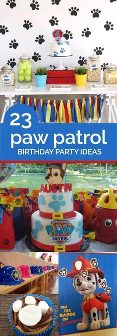 23 Paw Patrol Birthday Party Ideas #PawPatrol #BirthdayParty #KidParty #KidBirthday