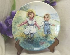"Vintage Fine Porcelain 1982 Collectors Plate,""Playtime"",2 Children,My Memories, Mary Vickers,Made in England,Wedgwood,#VB7104 by ckdesignsforyou. Explore more products on http://ckdesignsforyou.etsy.com"