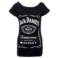 The black, waisted girl top shows the logo of the whiskey manufacturer Jack Daniel's. The whiskey comes from small town Lynchburg in Tennessee, USA. Jack Daniels Tank, Jack Daniels Logo, Vintage Tee Shirts, Vintage Tops, Tennessee, Piercing, Uk Fashion, Skinny, Logos
