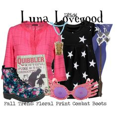 Luna Lovegood by tallybow on Polyvore featuring Charlott, Look From London, T.U.K., Luna and Old Navy