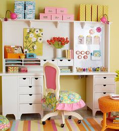 DIY Organization Ideas   Crafts Room Storage and Organization Ideas: Pretty Perfect Crafts Desk
