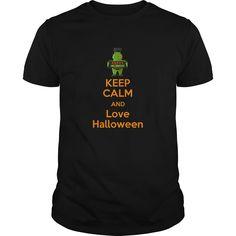 keep calm and love halloween T-Shirts, Hoodies. CHECK PRICE ==► https://www.sunfrog.com/Holidays/keep-calm-and-love-halloween-93741239-Black-Guys.html?id=41382