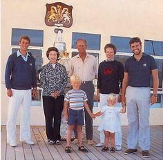 The Royal family aboard Britannia, c. 1986. H.R.H. Prince Edward, (later H.R.H…
