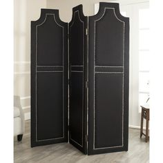 Safavieh Darcy Black 3-piece Folding Screen | Overstock.com