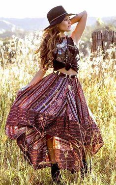 Boho skirt, gypsy sk