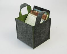 Felt Household Storage, Container  basket, bin organize, Felt Storage, Organizing Box Bag Case Container Custom Made Desk Organizer E1349