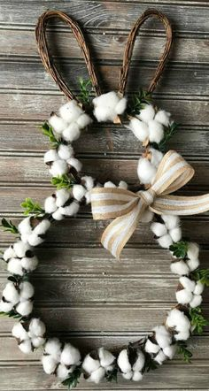 Spring Easter decorations - The 15 best spring Easter decorations- # best ., Spring Easter Decorations - The 15 Best Spring Easter Decorations- # Best . # Best # The # Spring Easter Decorations # Spring Easter Decorations Bes. Diy Osterschmuck, Easy Diy, Easter Crafts For Adults, Cotton Wreath, Diy Ostern, Diy Easter Decorations, Easter Wreaths Diy, Spring Wreaths, Handmade Decorations