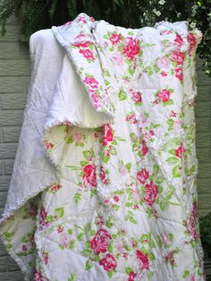 Shabby Chic Rag Quilt by CozzyCottage on Etsy, $145.00