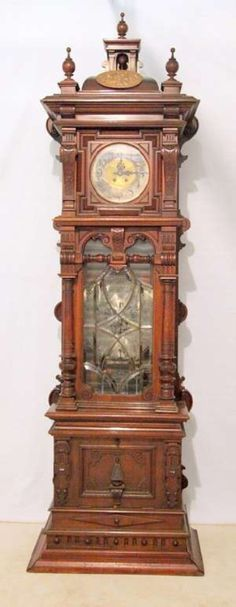 Lenzkirch Grandfather Clock w/music box sold at auction for $39,200. Made 1860.