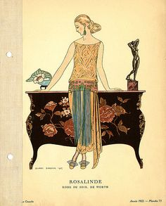 Designer: House of Worth    Date: 1922    Description: Evening gown by Worth