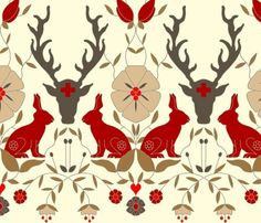 Scandinavian #folk design. #art