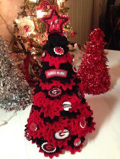 University of Georgia Christmas Tree. 2 ft mini tree with ...