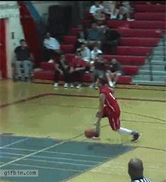This guy who managed to save his own dunk:   24 GIFs That Prove Absolutely Anything Can Happen In Sports