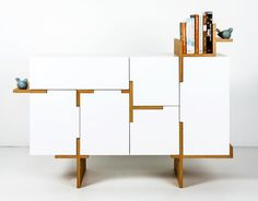 Branched buffet by Filip Janssens Cabinet Furniture, Design Furniture, Plywood Furniture, Cool Furniture, Deco Furniture, Furniture Making, Decoration Buffet, Buffet Design, Modern Buffet