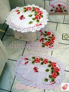 Jogo de banheiro jardim de rosas