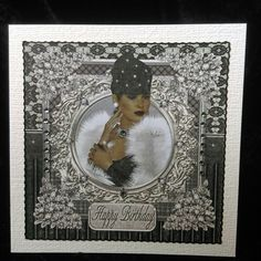 Paris Lady 3 Card Front on Craftsuprint - View Now!