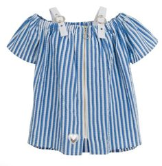 Make the right style choice for your little girl by choosing our blue striped stylish blouse for girls. Visit our website to know more about our clothes! Trendy Fashion, Girl Fashion, Fashion Dresses, Made Clothing, Little Doll, Love Blue, Blue Blouse, Blue Tops, Blue Stripes