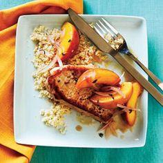 Skillet Pork Chop Sauté with Peaches | CookingLight.com