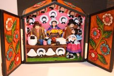 """Peruvian ornament Retablo """"Hats Store""""$78.00"""