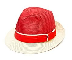 Christys' St Ives Braid Trilby - Blocked Red