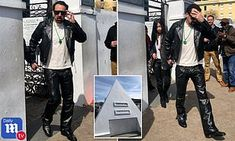 Nicolas Cage is spotted visiting his own pyramid-shaped tomb with mystery woman