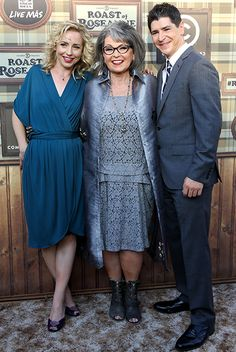 Alicia Goranson, Roseanne Barr and Michael Fishman attend the Comedy Central Roast of Roseanne Barr.