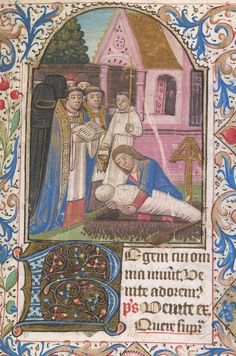 Burney 332 Book of Hours, Use of Clermont France, Central (probably diocese of Clermont); last quarter of the 15th century