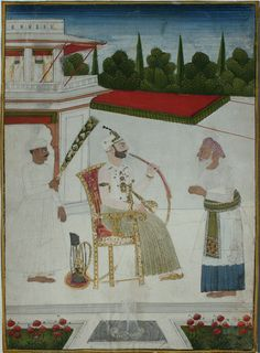 Munir al-Mulk (Aristu Jah), Diwan (Prime Minister) of the Nizam of Hyderabad (1808 - 1832). Hyderabad, circa 1810-20