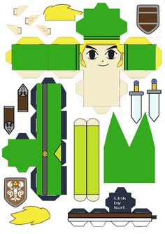 Legend of Zelda Link Phantom Hourglass cubeecraft by scarykurt