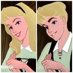 Prince Apollo Bostwick/Lark Briar (my character) compared to Princess Aurora/Briar Rose (Disney's character)