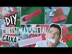 DIY: CAIXA DE PRESENTE PARA O NATAL !!   Tumblr Inspired #NatalNaÚltimaH...