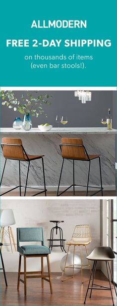 Barstools - Sign up now for FREE SHIPPING on orders over $49 at allmodern.com!