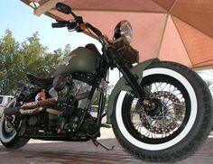 Photo of 2002 Harley Night Train Softail Bobber Bike named Blitz Bomber by Hellraiser from Kuwait.