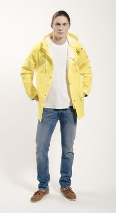 Sandhamn Jacket 309 by Grundéns Originals Rain Wear, Spring Summer 2015, Raincoat, The Originals, Yellow, Jackets, Fashion, Rain Jacket, Down Jackets
