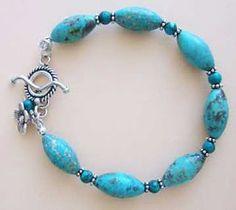 Kingman turquoise bracelet handmade-beaded-gemstone-jewelry.com  #handmade #jewelry #bracelet http://bellanblue.com