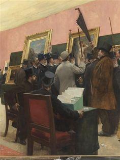 Une séance du jury de peinture au Salon des Artistes français (1883 ?)  Gervex Henri (1852-1929)  Paris, musée d'Orsay Réunion des Musées Nationaux-Grand Palais -