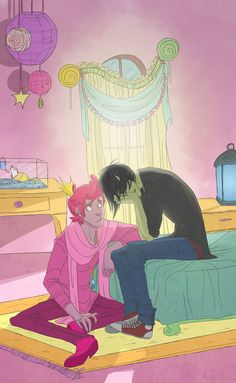 Prince Gumball x Marshall Lee (Adventure Time) Gender-bend