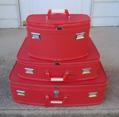 Vintage Luggage Red