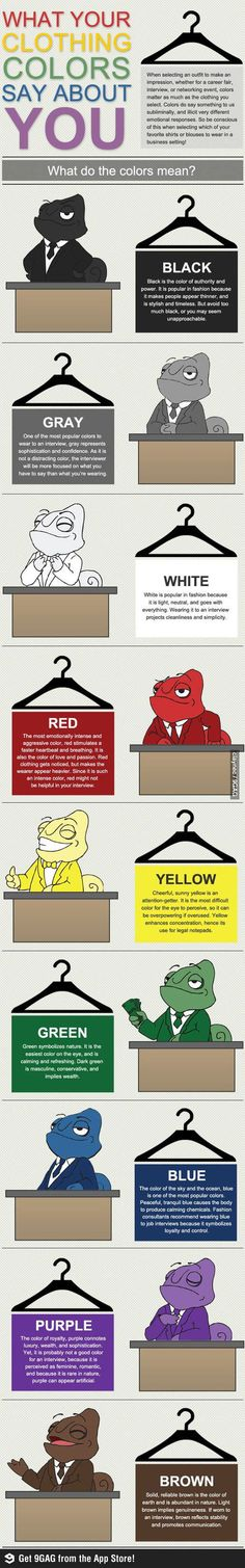 What to wear to a job interview, what a helpful little chameleon <3