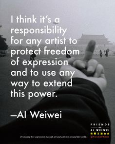 Wei Wei, Ai Weiwei, True Quotes, Like Me, No Response, Things To Think About, Freedom, Artist, Books