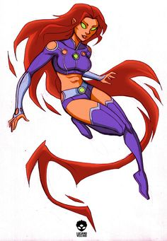 Starfire's new look by LucianoVecchio on DeviantArt